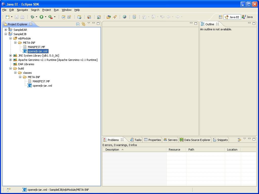 Apache geronimo v21 documentation 5 minute tutorial on create ejb project baditri Gallery