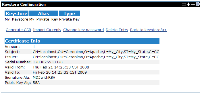 Apache Geronimo v2 1 Documentation: Certificate Properties