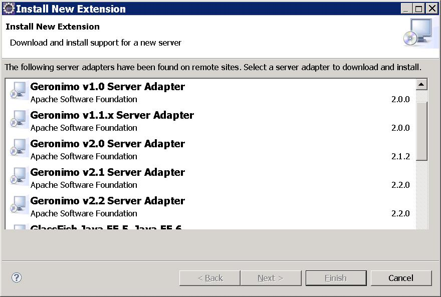 Apache Geronimo v2 2 Documentation: Installing Geronimo Eclipse Plugin