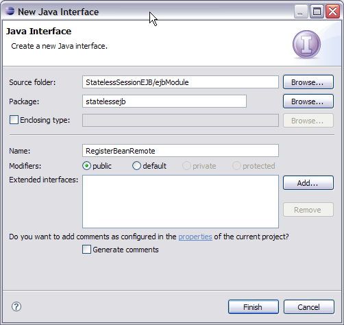 how to create new session in java